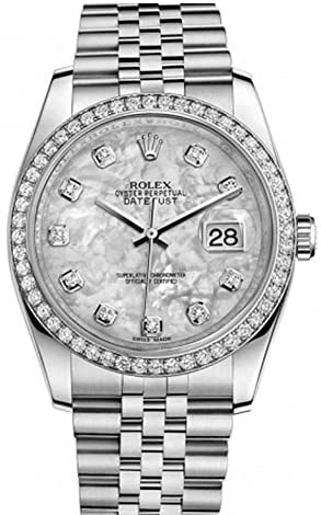 Rolex Datejust 36mm Mother of Pearl Dial Diamond ...