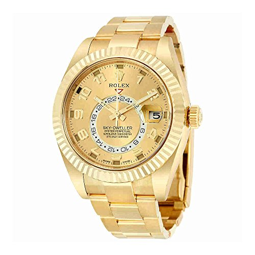 Rolex Sky Dweller Champagne Dial GMT 18kt Yellow ...