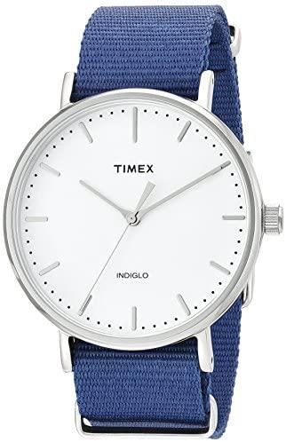 Timex Unisex TW2P97700 Fairfield 41 Blue Nylon Sl...