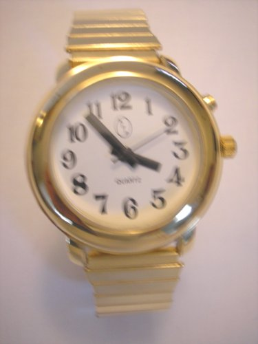 Ladies Deluxe Talking Wrist Watch Gold Tone for L...