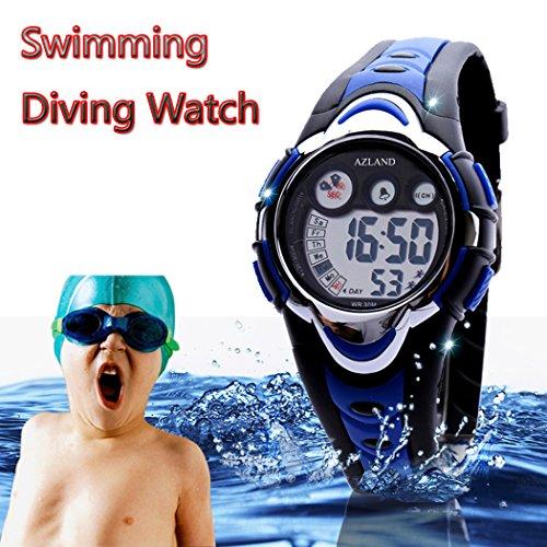 AZLAND Swimming Led Digital Sports Watches Children