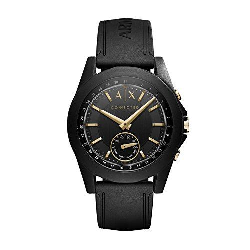 Armani Exchange Men's Hybrid Smartwatch, Black Si...