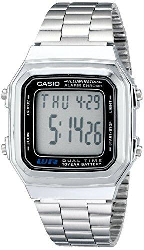 Casio Men's A178WA-1A Silver Stainless-Steel Quar...