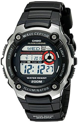 Casio Men's WV200A-1AV Waveceptor Watch with Blac...