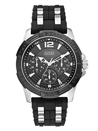 GUESS Men's Stainless Steel Casual Silicone Watch...