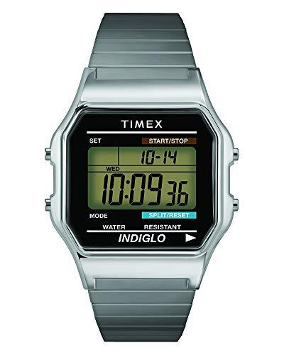 Timex Men's T78587 Classic Digital Silver-Tone St...