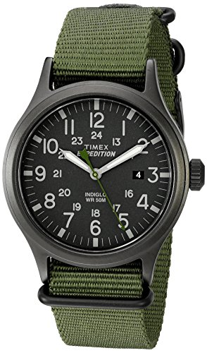 Timex Men's TW4B04700 Expedition Scout Green Nylo...