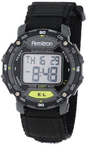 Armitron Sport Unisex 40/8291BLK Grey Accented Di...