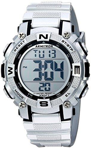 Armitron Sport Unisex 45/7099SIL Digital Chronogr...