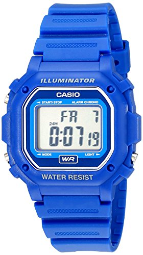 Casio F108WH Water Resistant Digital Blue Resin S...
