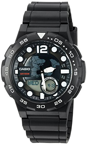 Casio Men's '3D Dial' Quartz Resin Watch, Color:B...