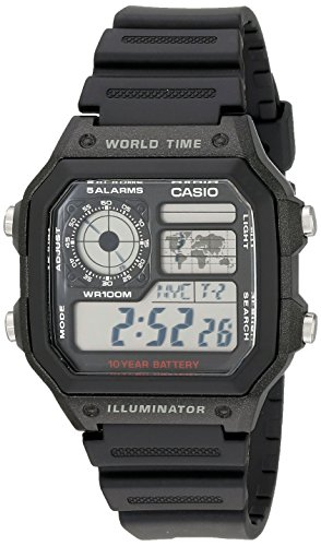 Casio Men's AE1200WH-1A World Time Multifunction ...