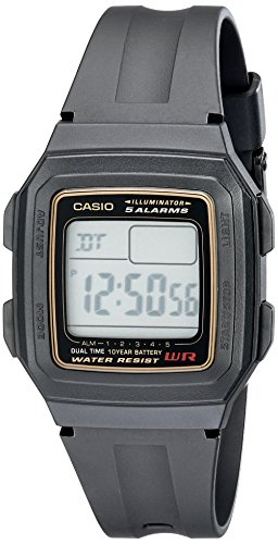 Casio Men's F201WA-9A Multi-Function Alarm Sports...