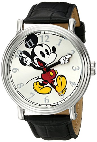 Disney Men's W001868 Mickey Mouse Silver-Tone Wat...