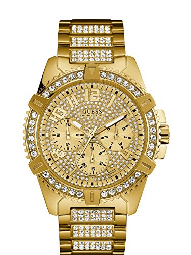 GUESS Men's Stainless Steel Multifunction Crystal...