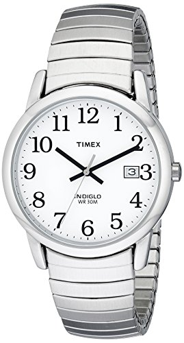 Timex Men's T2H451 Easy Reader Silver-Tone Stainl...