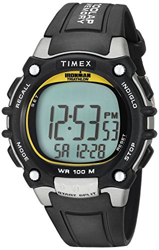 Timex Men's T5E231 Ironman Classic 100 Black/Yell...