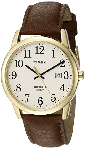 Timex Men's TW2P75800 Easy Reader Brown/Gold-Tone...