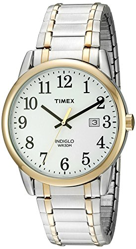 Timex Men's TW2P81400 Easy Reader Two-Tone Stainl...