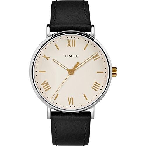 Timex Men's TW2R82400 Southview 41 Black/Cream Le...