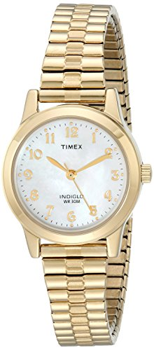 Timex Women's T2M827 Essex Avenue Gold-Tone Stain...