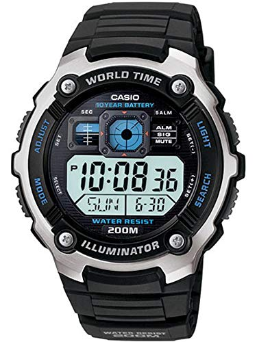 Casio AE-2000W-1AVCF Men's AE2000W-1AV Silver-Ton...