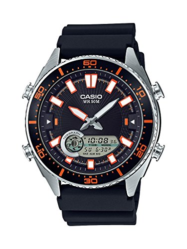 Casio Men's 'Ana-Digi' Quartz Metal and Resin Cas...
