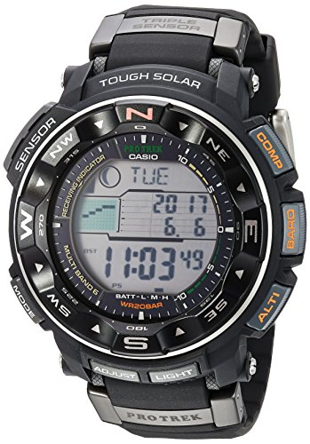 Casio Men's Pro Trek PRW-2500R-1CR Tough Solar Di...