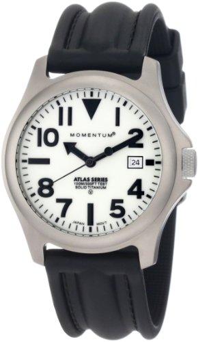 Momentum Men's 1M-SP00W1 Atlas White Dial Black S...