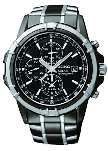 Seiko Men's SSC143 Stainless Steel Solar Watch wi...