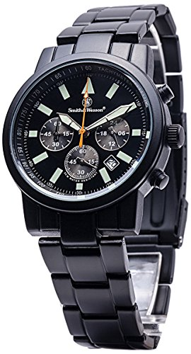 Smith & Wesson Men's Pilot Watch with 3ATM/Round ...