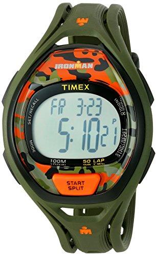 Timex Ironman Sleek 50 Orange Camo Stopwatch Reca...