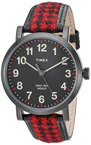 Timex Originals Houndstooth | Black/Red Strap w L...