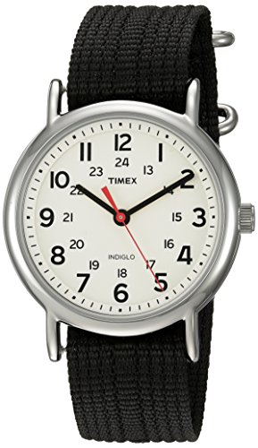 Timex Unisex TWC027600 Weekender Cream/Black Nylo...