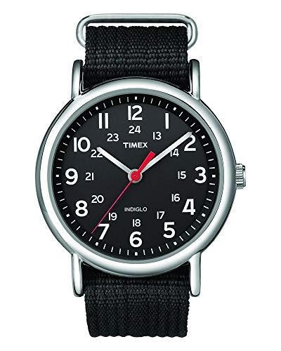 Timex Unisex T2N647 Weekender 38mm Black Nylon Sl...
