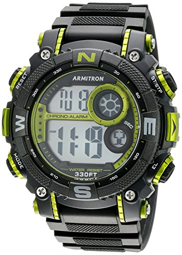 Armitron Men's 40/8284LGN Lime Green Accented Dig...