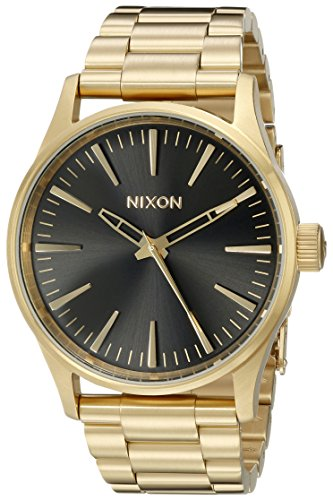 Nixon Men's A4501604 Sentry 38 SS Analog Display ...