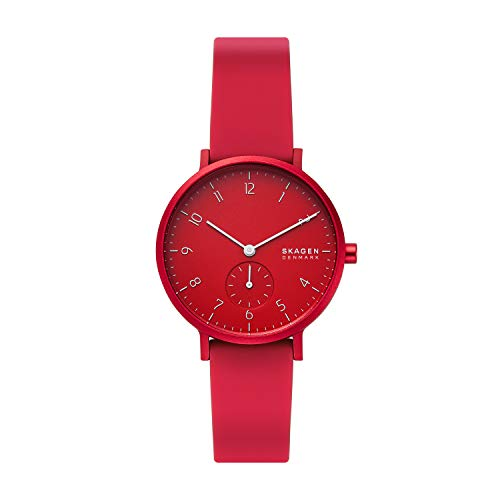 Skagen Men's Aaren Kulor Quartz Silicone Watch Co...