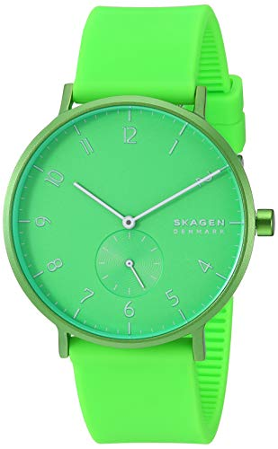 Skagen Men's Aaren Quartz Watch with Silicone Str...