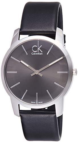 Calvin Klein City Men's Analogue Black Leather St...