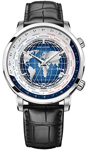 Agelocer Men's Watch Luxury Brand Blue Automatic ...