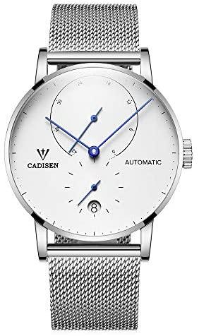 Cadisen Men's Automatic Watch Minimalist Mesh Str...