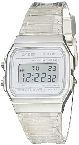 Casio Quartz Watch with Resin Strap, Clear, 20 (M...