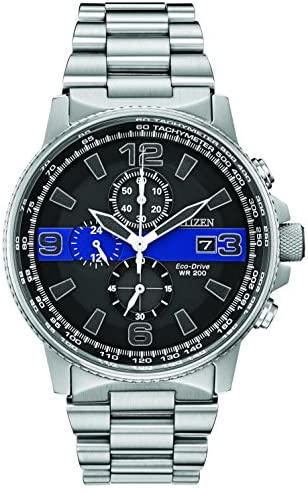 Citizen Men's Thin Blue Line Watch Chronograph 20...