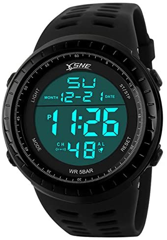 Digital Sports Watch Water Resistant Outdoor Easy...