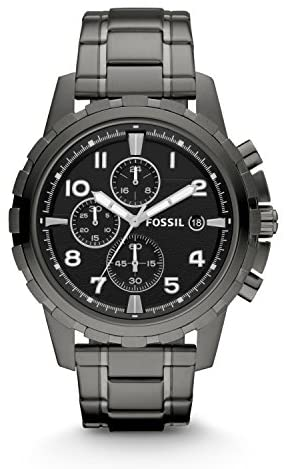 Fossil Men's Dean Stainless Steel Chronograph Dre...