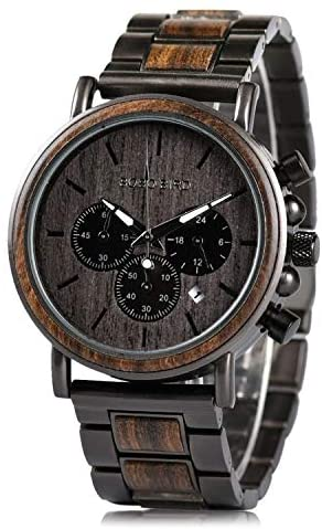 Mens Wooden Watches Business Casual Wristwatches ...