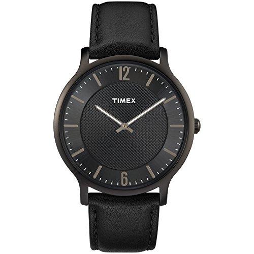Timex Men's TW2R50100 Metropolitan 40mm Black Lea...