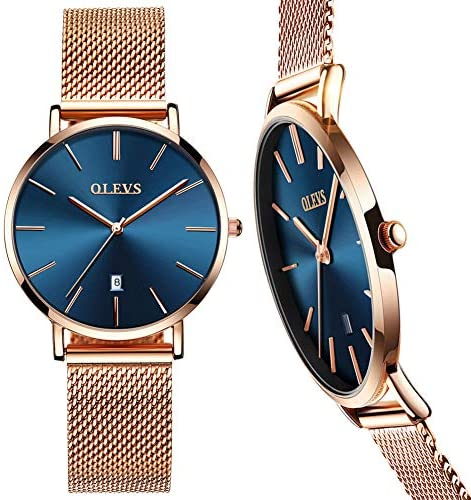 6.5mm Ultra Thin Watches for Women Waterproof,Ros...