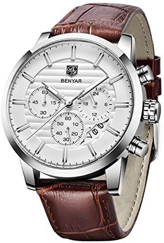 BENYAR Quartz Chronograph Waterproof Watches Busi...